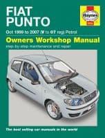 Haynes 5634 Workshop Repair Manual Fiat Punto 99 - 07 (V to 07) Petrol engines
